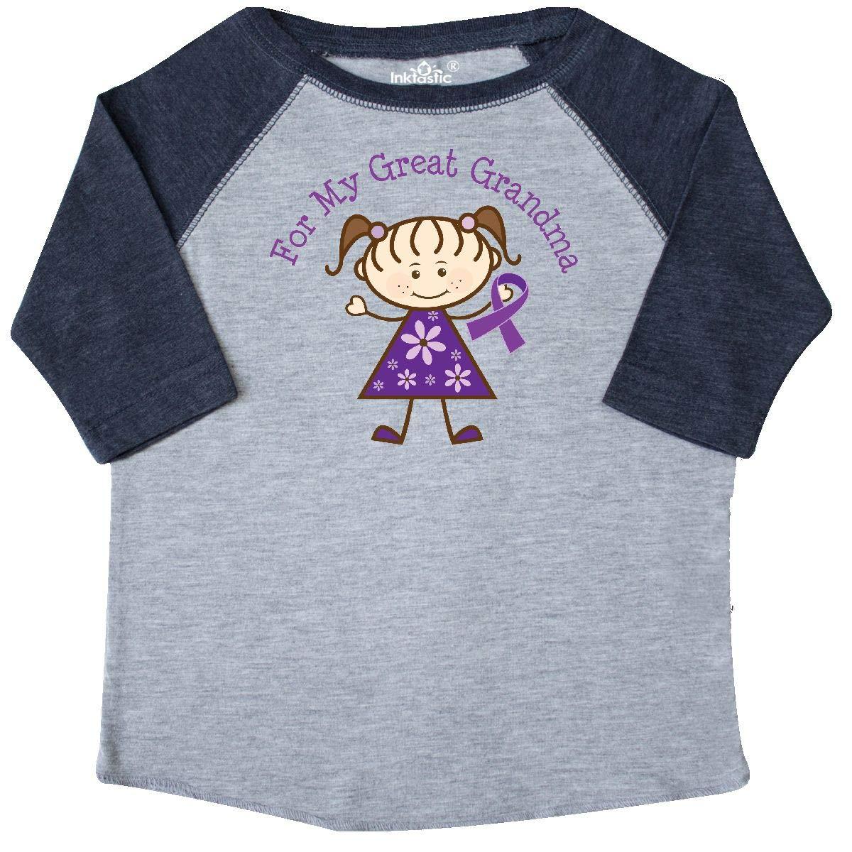inktastic Alzheimers Awareness Great Grandma Ribbon Toddler T-Shirt
