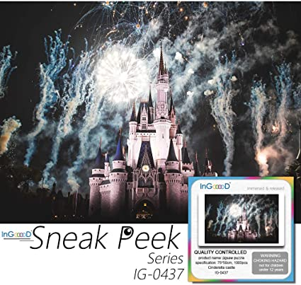 Jigsaw Puzzle 1000 Pieces Sneak Peek Series Cinderella Castle/_IG-0437 Entertainment Toys for Adult Special Graduation or Birthday Gift Home Decor Ingooood