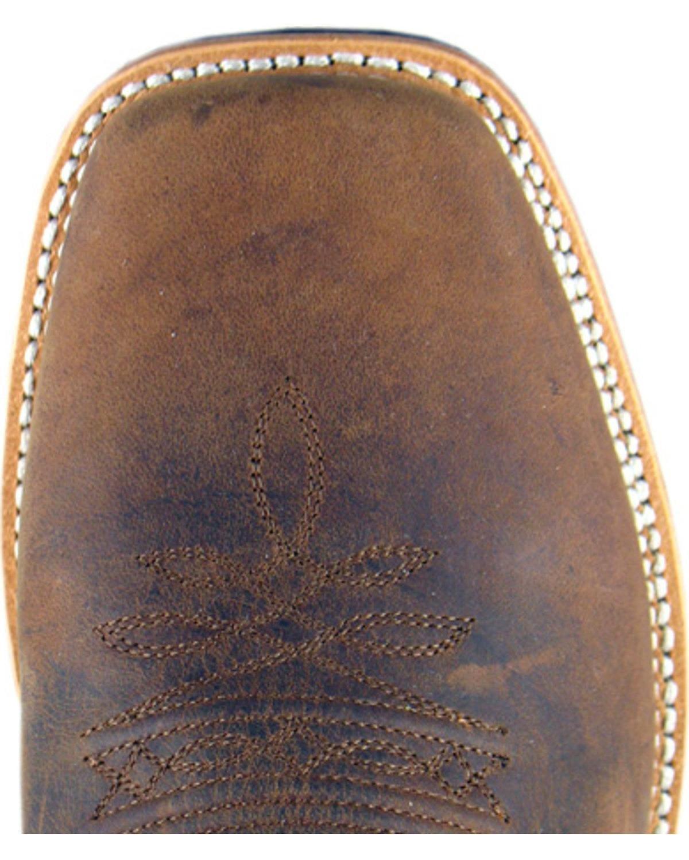 Smoky Mountain Men's Boonville Cowboy Boot Square Toe - 4028 B007ETINYK 14 D(M) US|Brown