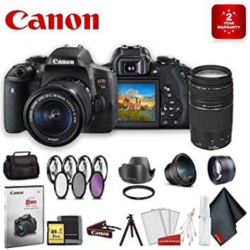 Buy Canon Eos Rebel T6i Dslr Camera With 18 55mm Lens