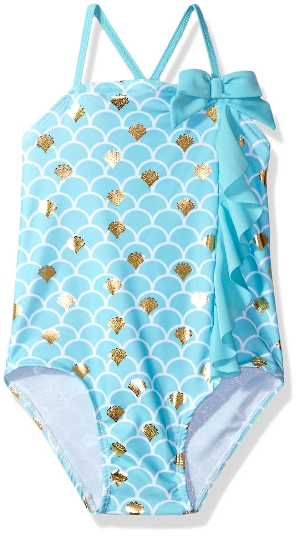 Sol Swim Little Girls Solo Swim-4-6x-Seashell Delight One Piece Swimsuit