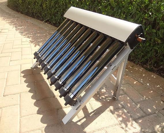 Solar Collector of Solar Hot Water Heater / with 10 Evacuated Tubes / Heat Pipe Vacuum Tubes, new/Colector solar del calentador de agua caliente solar / con ...
