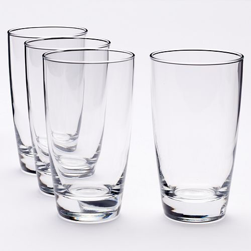 Food Network™ Signature 4-pc. Crystal Highball Glass Set