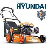P1PE 4-Stroke Petrol Lawnmower Cutting Width 46cm / 18 inch 139CC Hyundai Powered Self Propelled P4600SP
