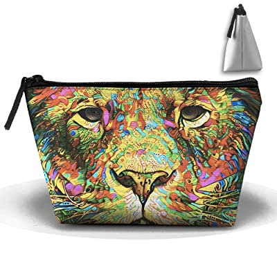 Rainbow Floral Lion Head Women Multifunction Travel Bag Cosmetic Toiletry Makeup Bag