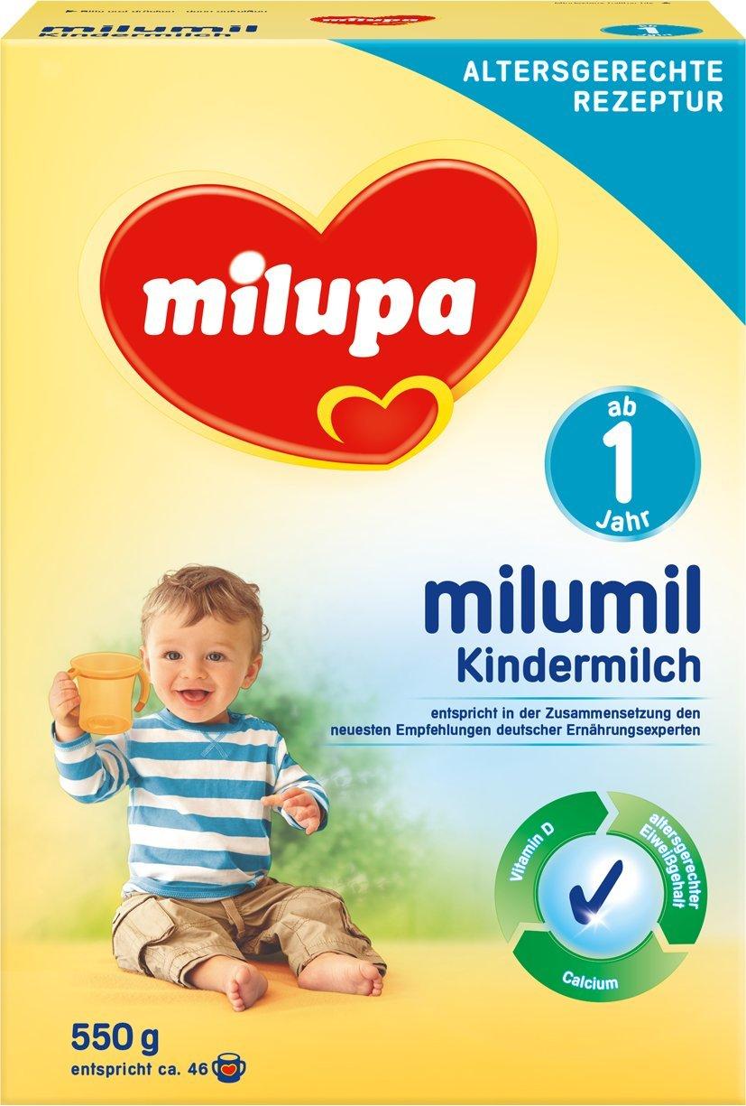 Milupa Milumil Kindermilch 1+ ab 1 Jahr, 4er Pack (4 x 550 g) 603303 1. Geburtstag Kleinkind Milchgetränk