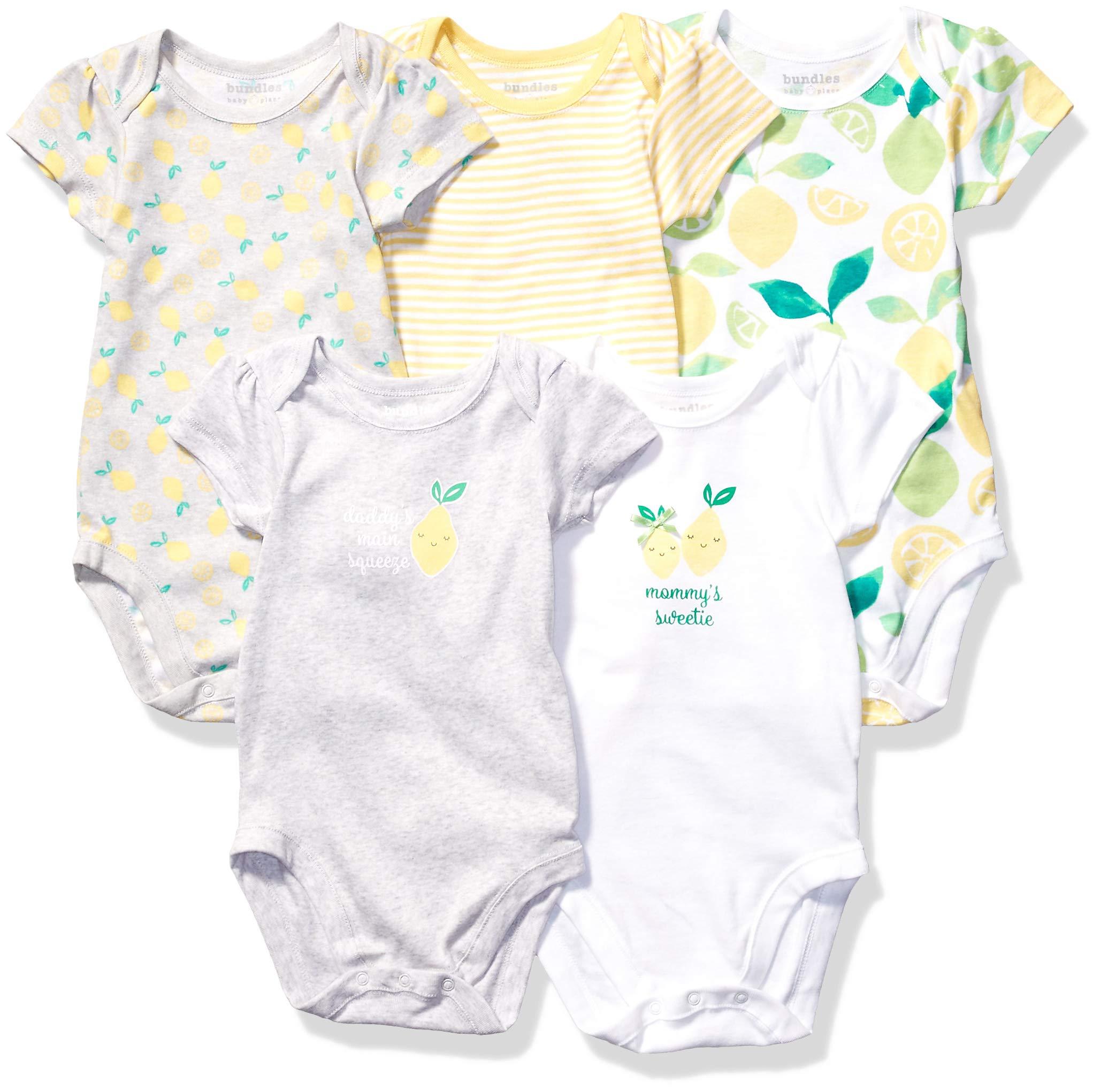 The Children's Place Baby Girls Short Sleeve Bodysuit (Pack of 5)