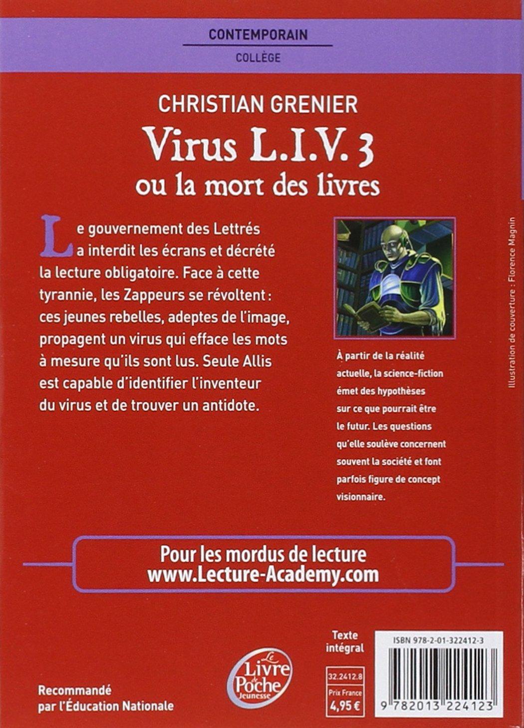 Virus Liv 3 Ou LA Mort DES Livres Le Livre de Poche Jeunesse: Amazon.es: Grenier, Christian: Libros en idiomas extranjeros