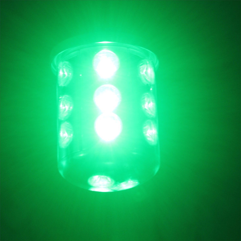 Apollointech Green Deep Drop LED Submersible Night Fish Attracting Fishing Light 5000 Lumens IP68 Anodized Aluminum Housing 30 ft cord for Crappie Bass Striper Catfish Baitfish Walleye Shad Minnows
