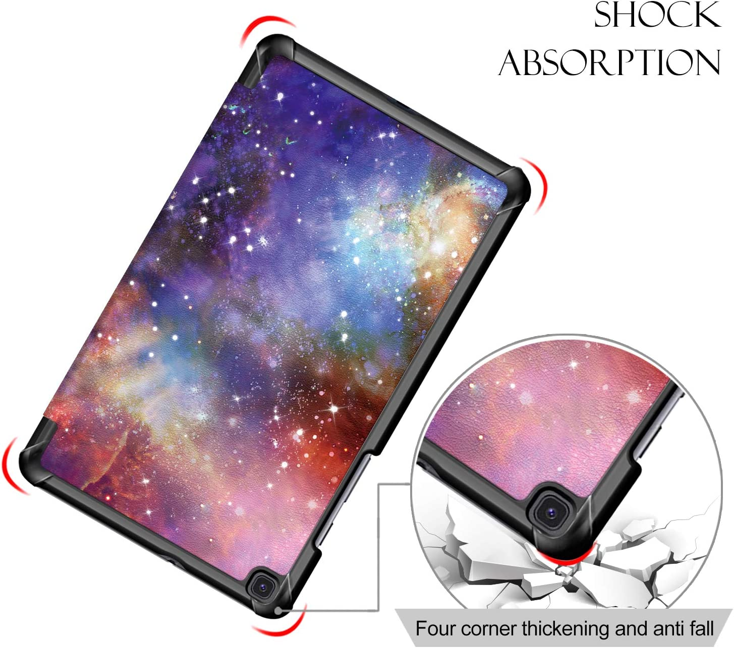 Model SM-T290 // T295 // T297 Ultra Slim PU Leather Lightweight Tri-Fold Stand Cover Case for Galaxy Tab A 8.0 2019 Tablet Galaxy Surom Folio Case for Samsung Galaxy Tab A 8.0 2019