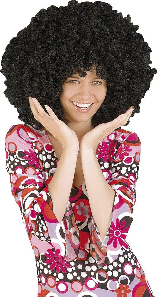 Rubies - Peluca afro extra grande, color negro (S1201): Amazon.es: Juguetes y juegos