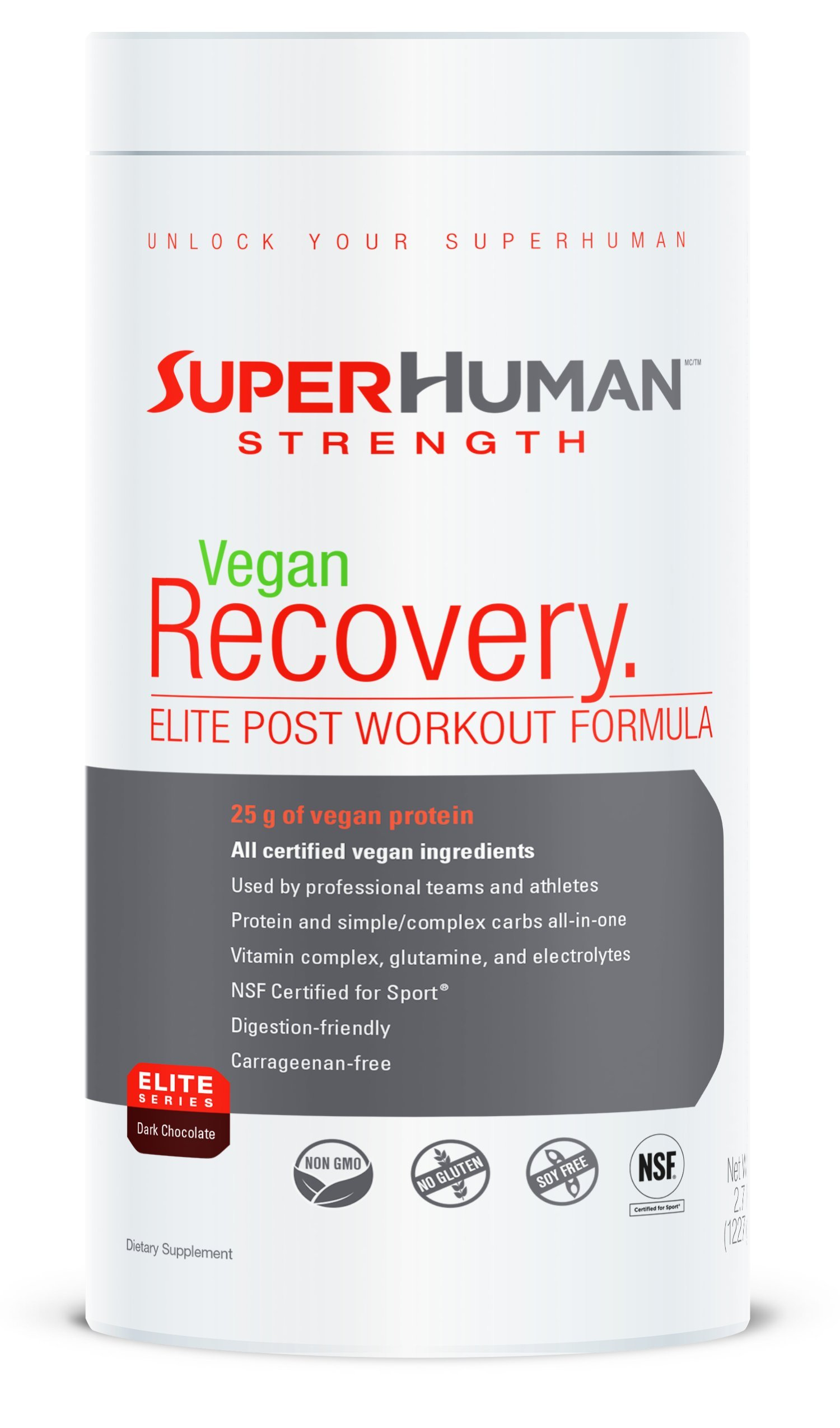 Superhuman Vegan Recovery Protein - Vegan Protein, Carbohydrate & Vitamin Blend (1227g)
