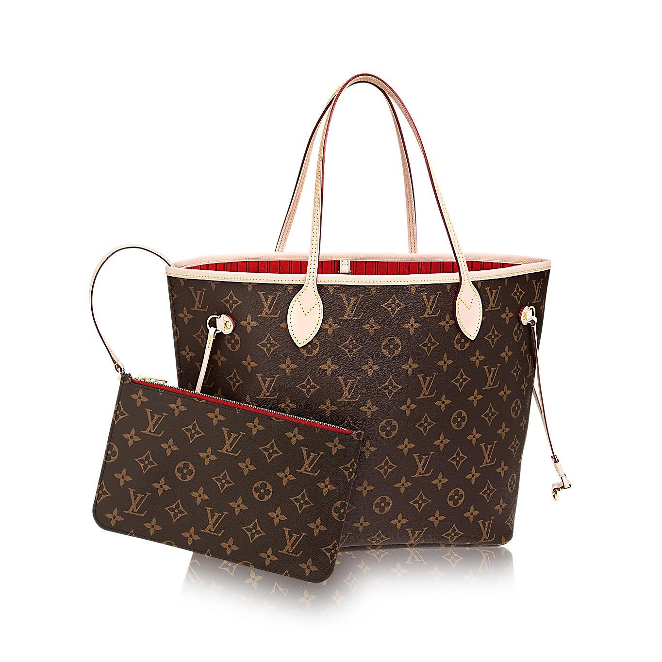 Authentic Louis Vuitton Neverfull MM Monogram Canvas Cherry Handbag Article:M41177 by Louis Vuitton (Image #1)