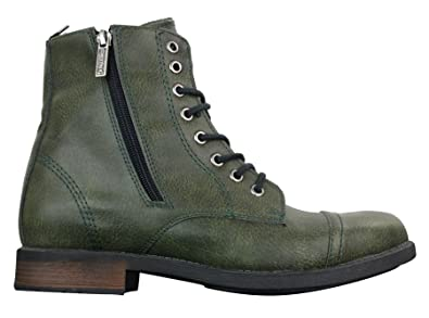 f0cc6374d08e Tamboga Mens Smart Casual Laced Zip Military Army Hiking Retro Vintage  Combat Boots: Amazon.co.uk: Shoes & Bags