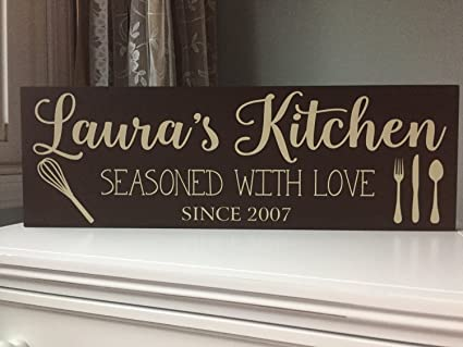 Amazon Com Personalized Kitchen Signs Kitchen Decor Kitchen