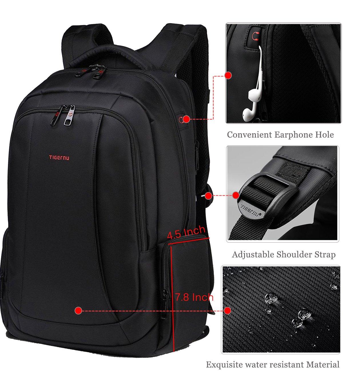 Diy laptop backpack - Fubevod Laptop Backpack 15 6 Waterproof Business Rucksack With Hidden Pocket Black Amazon Co Uk Luggage