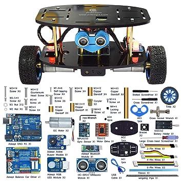 Adeept 2-Wheel Self-Balancing Upright Car Robot Kit for Arduino UNO