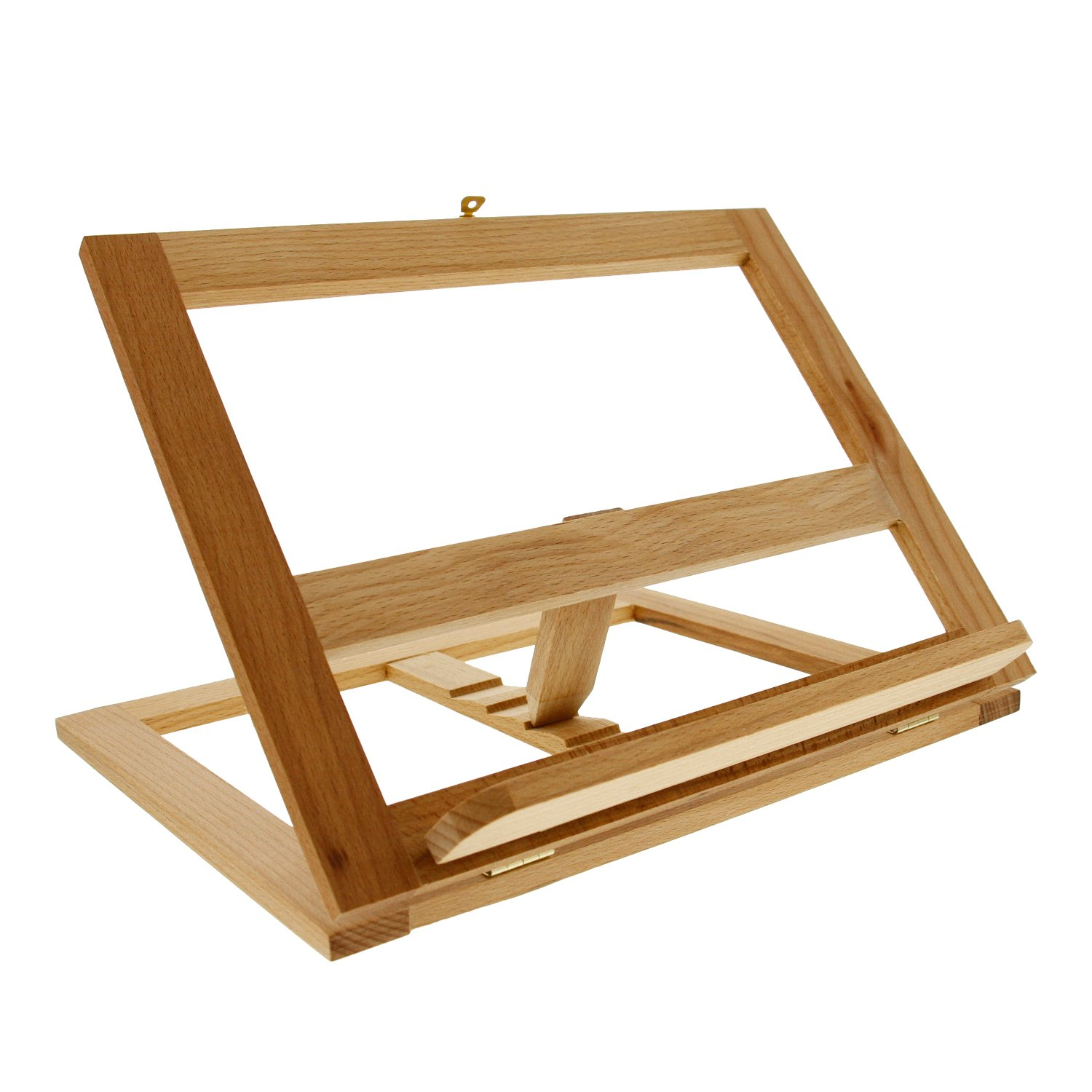 U.S. Art Supply Large Wooden Bookrack Easel and Cookbook Holder by US Art Supply
