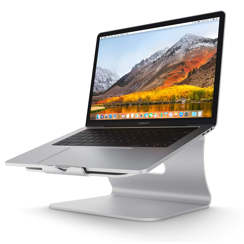 ... stand de refrigeración , Soporte diseñado para Apple MacBook / ordenadores portátiles, hecho de aleación de aluminio de alta calidad, Plata (Patentado)