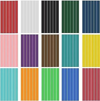 60Pcs EVA Glitter Powder Hot Glue Sticks 10 Colour Hot Melt Glue Sticks 7*100mm