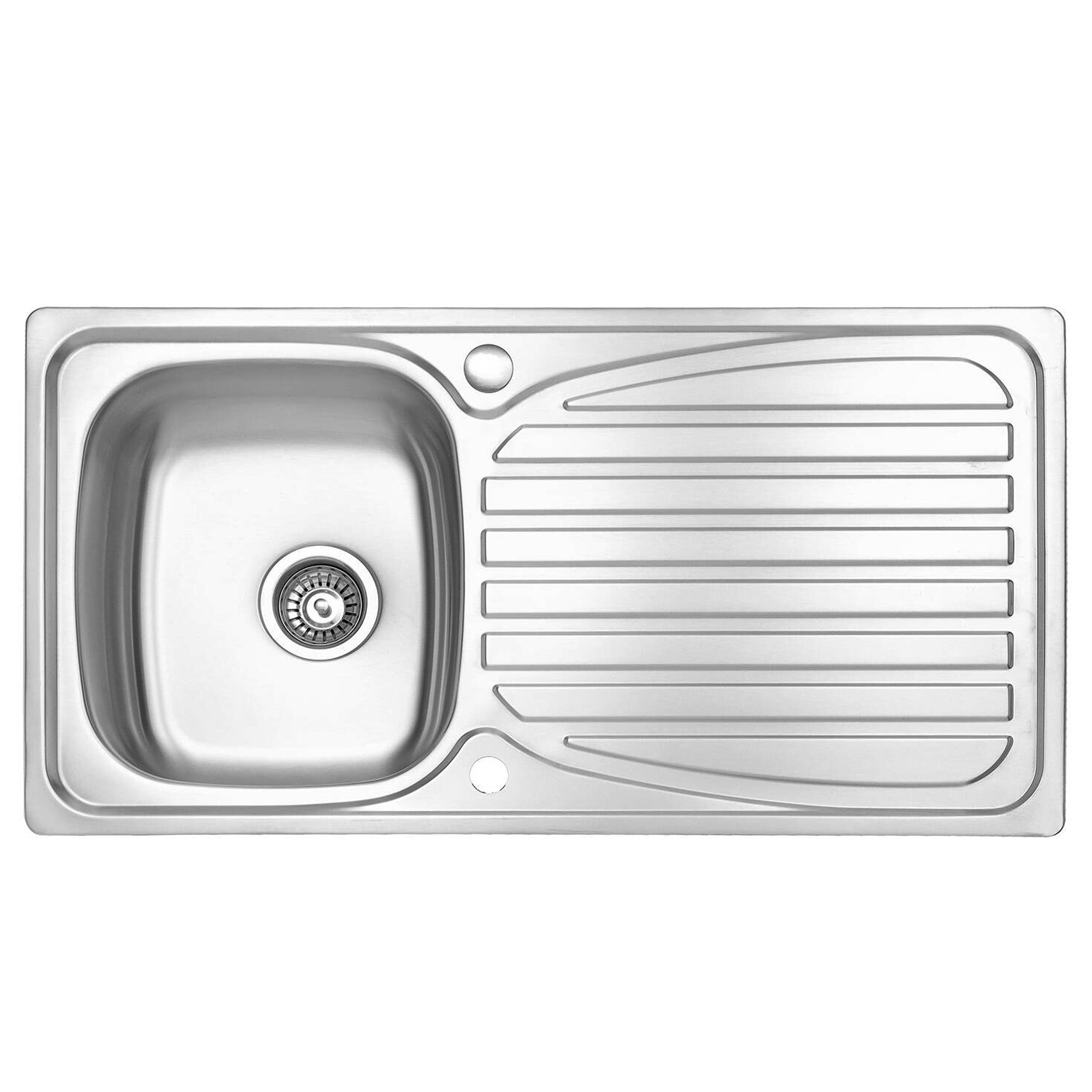 Phenomenal Jass Ferry Kitchen Sink Inset Stainless Steel Single 1 Bowl Reversible Drainer With Waste Pipes Clips 10 Year Guarantee Download Free Architecture Designs Scobabritishbridgeorg