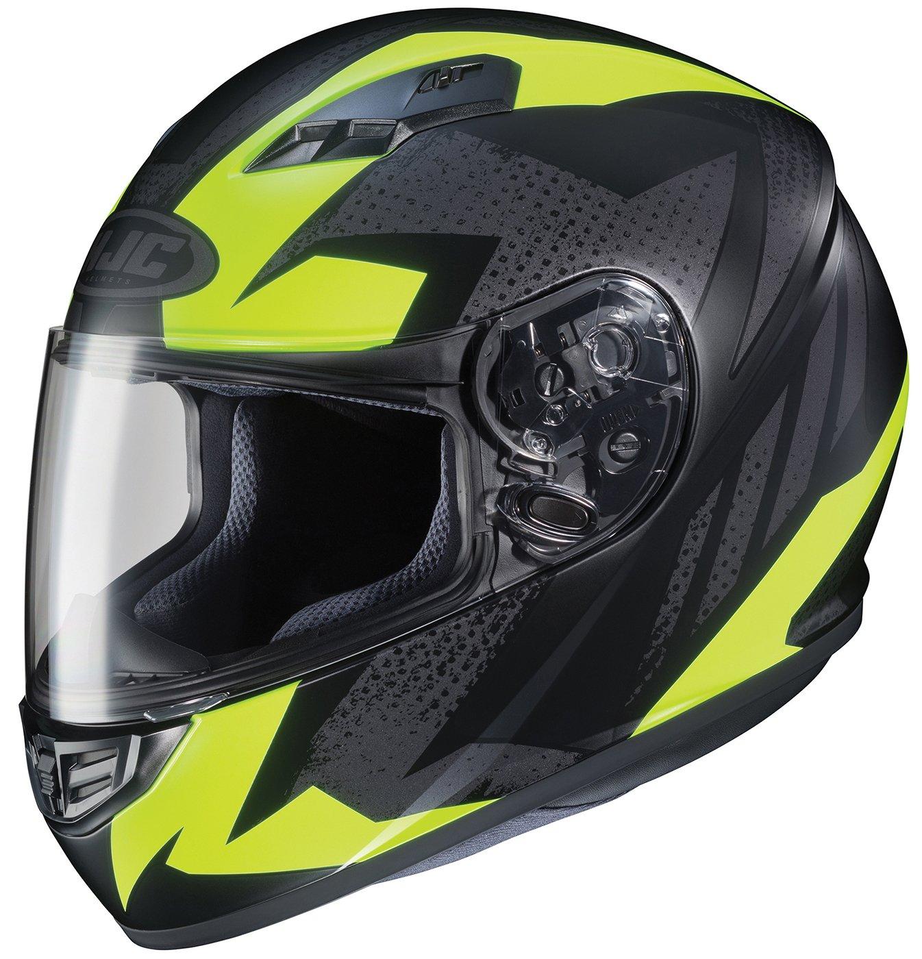 Black//Neon Green, Large HJC Helmets CS-R3 Unisex-Adult Full Face Treague Motorcycle Helmet