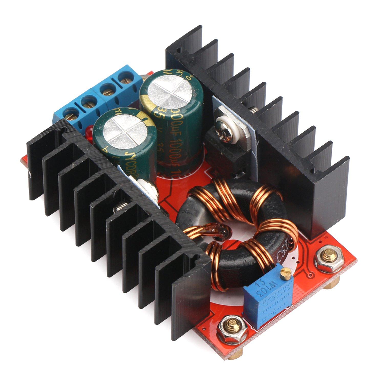 Drok 150w Voltage Converter Step Up Regulator 12v To 24v Current Booster Dc 10 32v 12 35v Adjustable Boost Module High Power Regulation Industrial