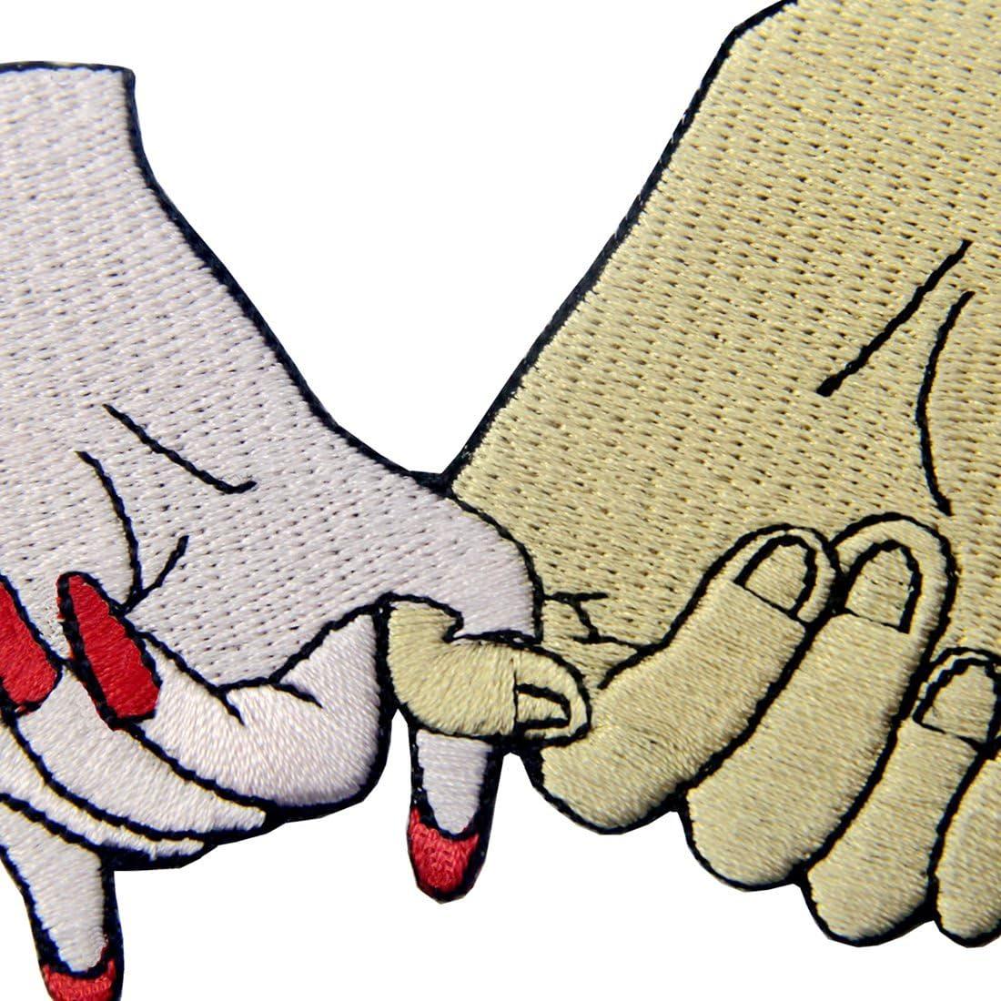 /à Coudre ou /à Coller avec Fer /à Repasser Tricher Mon Amour ZEGIN Patch brod/é en Forme de Squelette /à Main