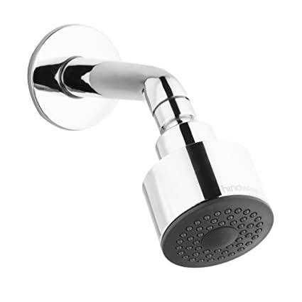 Hindware F160039CP Overhead Shower with Shower Arm and Wall Flange ...