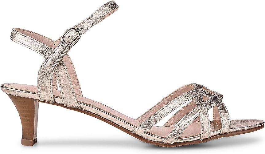 ESPRIT Damen Sandaletten Birkin Sandal 038EK1W004 280 Gold 444472