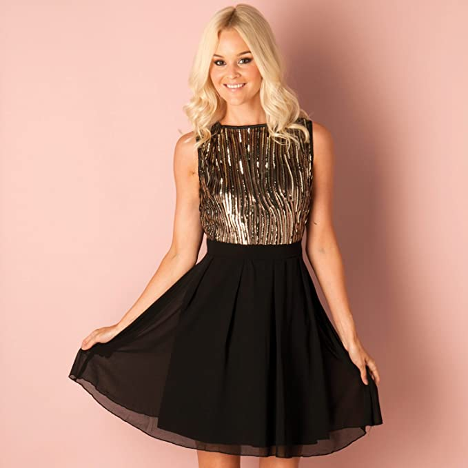 Complementos para vestido negro y dorado