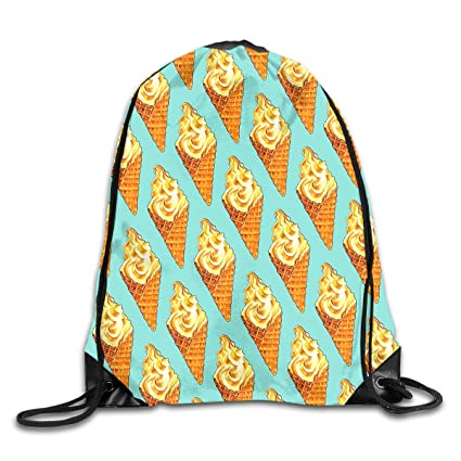 Amazon Unisex Vanilla Ice Cream Soft Serve Pattern Drawstring Unique Drawstring Bag Pattern