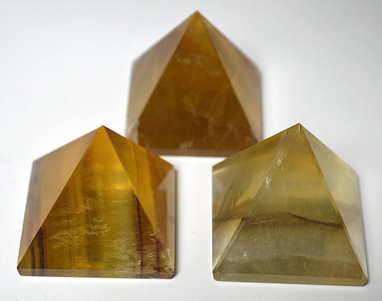 Citrine Pyramid Size Approx  1 5-2 Inch- Reiki Healing