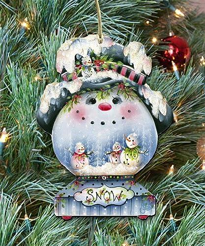 Amazon Com Christmas Ornaments Wooden Christmas Tree Ornaments
