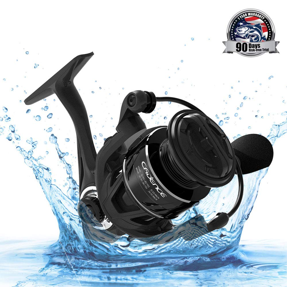 CS5 Spinning Reel, Ultralight Carbon Frame Fishing Reel with 8+1 Corrosion Resistant Bearings Smooth Powerful Fishing Reel Spinning with 20Lb Carbon Fiber Drag & 6.2:1 Gear Ratio Reels (CS5-3000)