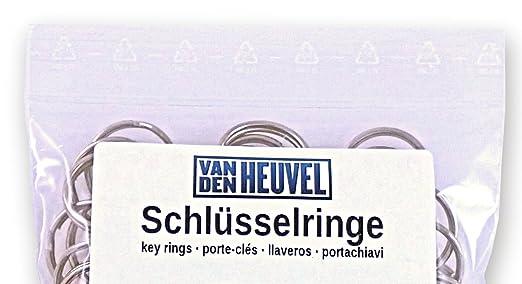 desde una unidad hasta un gran paquete Plateado Llavero van den Heuvel de acero niquelado en diferentes tama/ños resistente 5//–/70/mm