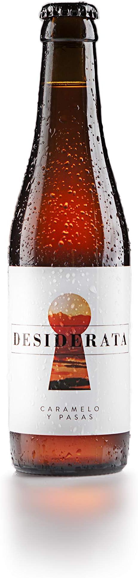 Desiderata - American Amber Ale - Cerveza artesana 100% natural sevillana, sin aditivos, colorantes ni conservantes. Refermentada en botella - Sabor amargo y aroma cítrico - 1 ud