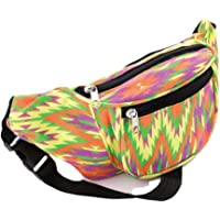 Multi Coloured Bright Abstract Print Fabric Bum Bag / Fanny Pack - Festivals /Club Wear/ Holiday Wear