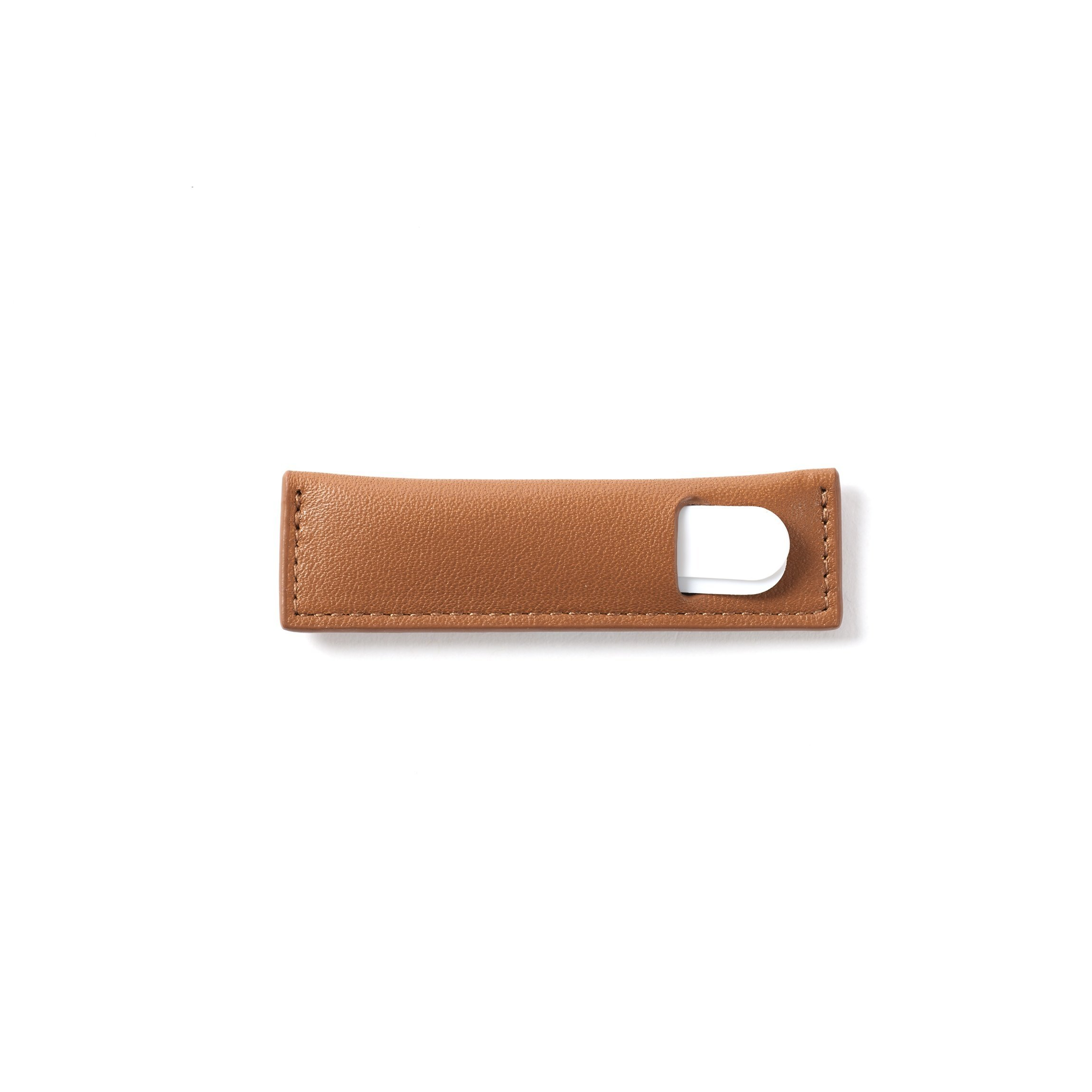 Collar Stay Case - Full Grain Leather - Cognac (brown)
