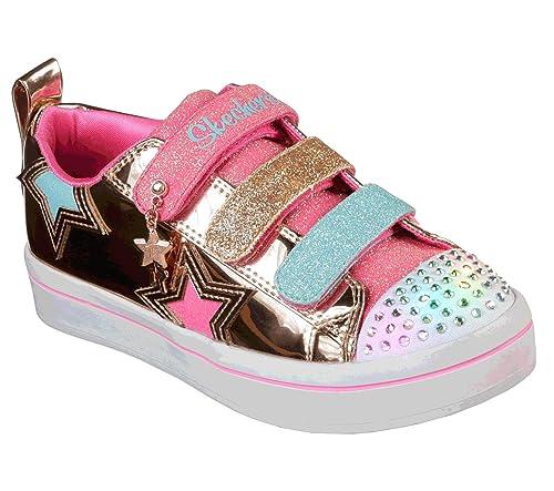 Skechers TWI-Lites-Twinkle Starz, Zapatillas para Niñas: Amazon.es: Zapatos y complementos