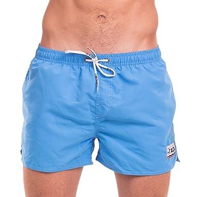 e834d5d4ce67e Taddlee Men's Beach Board Shorts Swimwear Swimsuits Swim Surfing Boxer  Trunks (S, Blue)