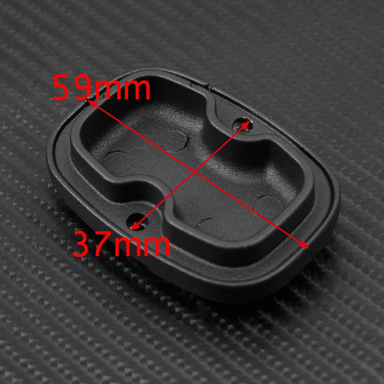 YHMTIVTU Chrome Rear Brake Master Cylinder Cover with Black Gasket Rubber Compatible with Harley Touring Road King FLHR Street Electra Glide 2008-2019