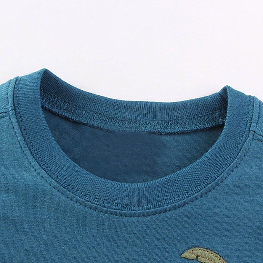 Memela Baby Boys Clothes Short Sleeve Blue Cartoon Tops T-Shirt Blouse 18M-6T Spring//Summer
