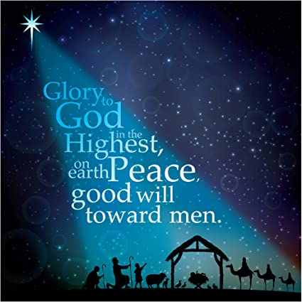 Christian Christmas Pictures 2020 Christian Christmas Card, Pack of 10   Starlight (CM112), with