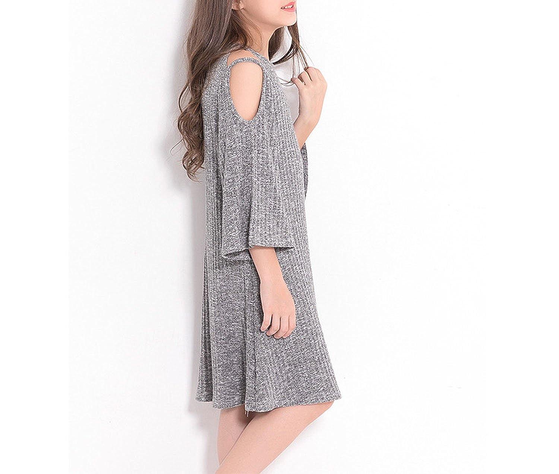 417aeedd6aecf Amazon.com: Teenage Girls Dress Off-Shoulder A-Line Dress Big Girls ...