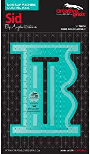 Creative Grids Machine Quilting Tool Ruler Template - Sid (Standard Version)