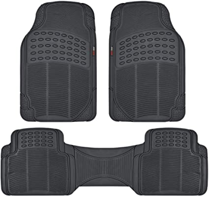 MotorTrend Floor Mat for Car SUV 100/% Odorless Trimmable Trunk Liner Black