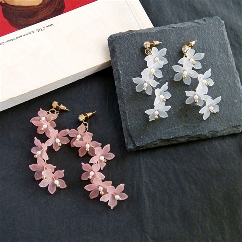 tassel earrings flowers stud earrings temperament woman crystal earrings jewelry