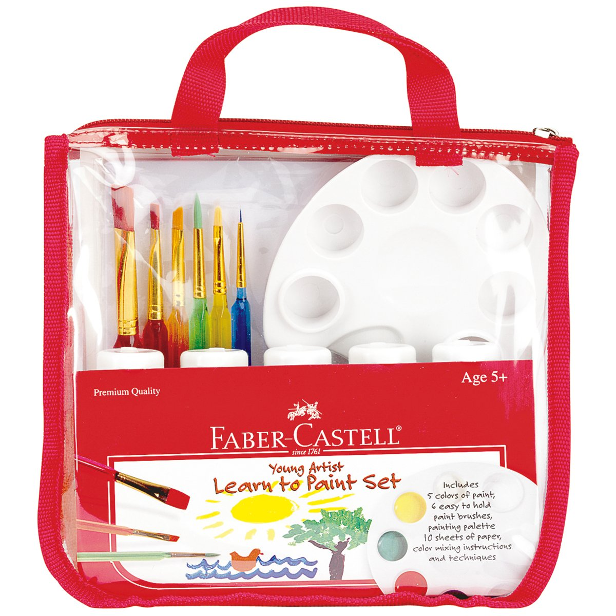 amazon com faber castell young artist learn to paint set