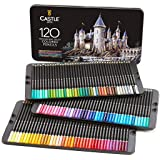 Castle Art Supplies 120 Colored Pencils Set for Adults Artists Professional | Featuring soft series core for expert layering